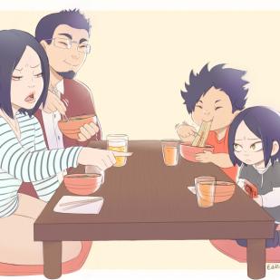 Kuroken family dinner
